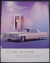 "1962 Print Ad Cadillac Coupe de Ville dependability Jeweled ""V"" Cartier ... - $12.95"