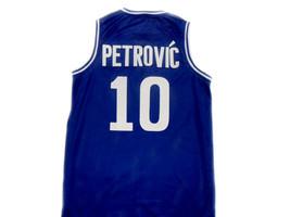 Drazen Petrovic #10 Cibona Croatia Basketball Jersey Blue Any Size  image 2