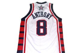 Carmelo Anthony #8 Team USA Basketball Jersey White Any Size  image 2
