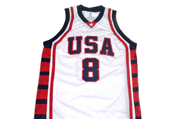 Carmelo Anthony #8 Team USA BasketBall Jersey White Any Size