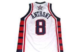 Carmelo Anthony #8 Team USA Basketball Jersey White Any Size  image 5