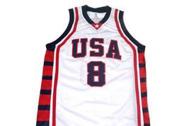 Carmelo Anthony #8 Team USA Basketball Jersey White Any Size  image 4