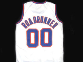 Roadrunner #00 Tune Squad Space Jam Basketball Jersey White Any Size image 4