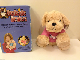 Bedside Healers Plush Dog Stuffed Toy Beige with Pink Shirt