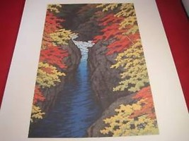 Hasui Japanese Woodblock reprint poster Agatsuma Gorge 1947 Japan