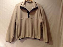 Mens Woolrich Tan Fleece Pullover Sweatshirt, Size Large