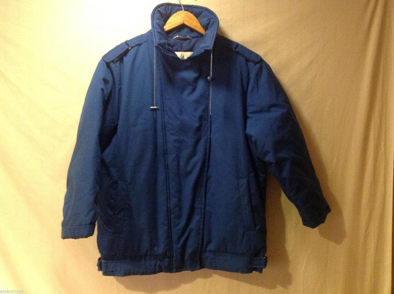 Misty Harbor Mens Royal Blue Winter Coat, Size 12
