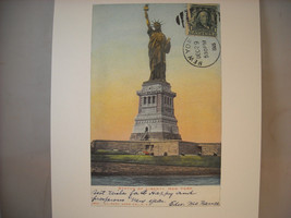 Vintage Color Reprint New York City Postcard From the Statute of Liberty