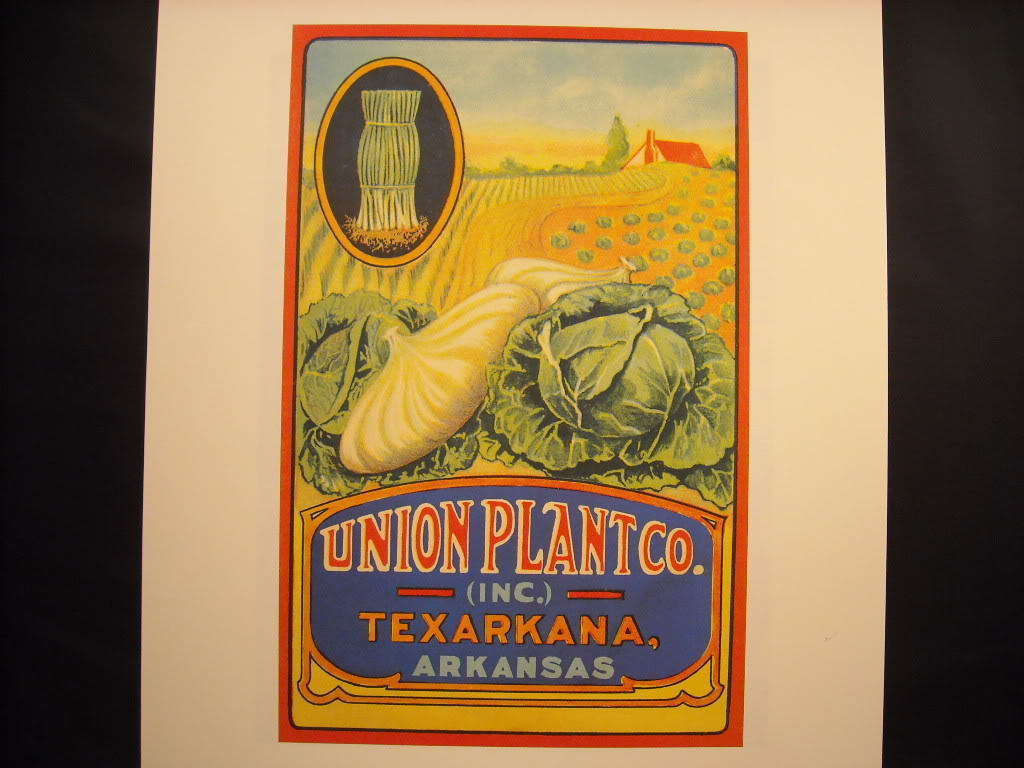 Vintage Color Ad Union Plant Co. Texarkana, Arkansas Reprint Poster