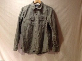 Mens Empyre Olive Greet Collared Shirt, Size Medium