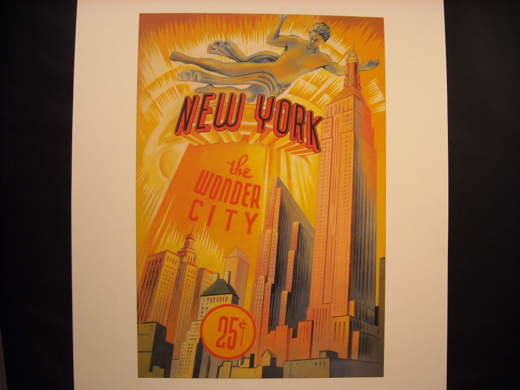 New York City rePrint vintage Rockefeller Center Statue