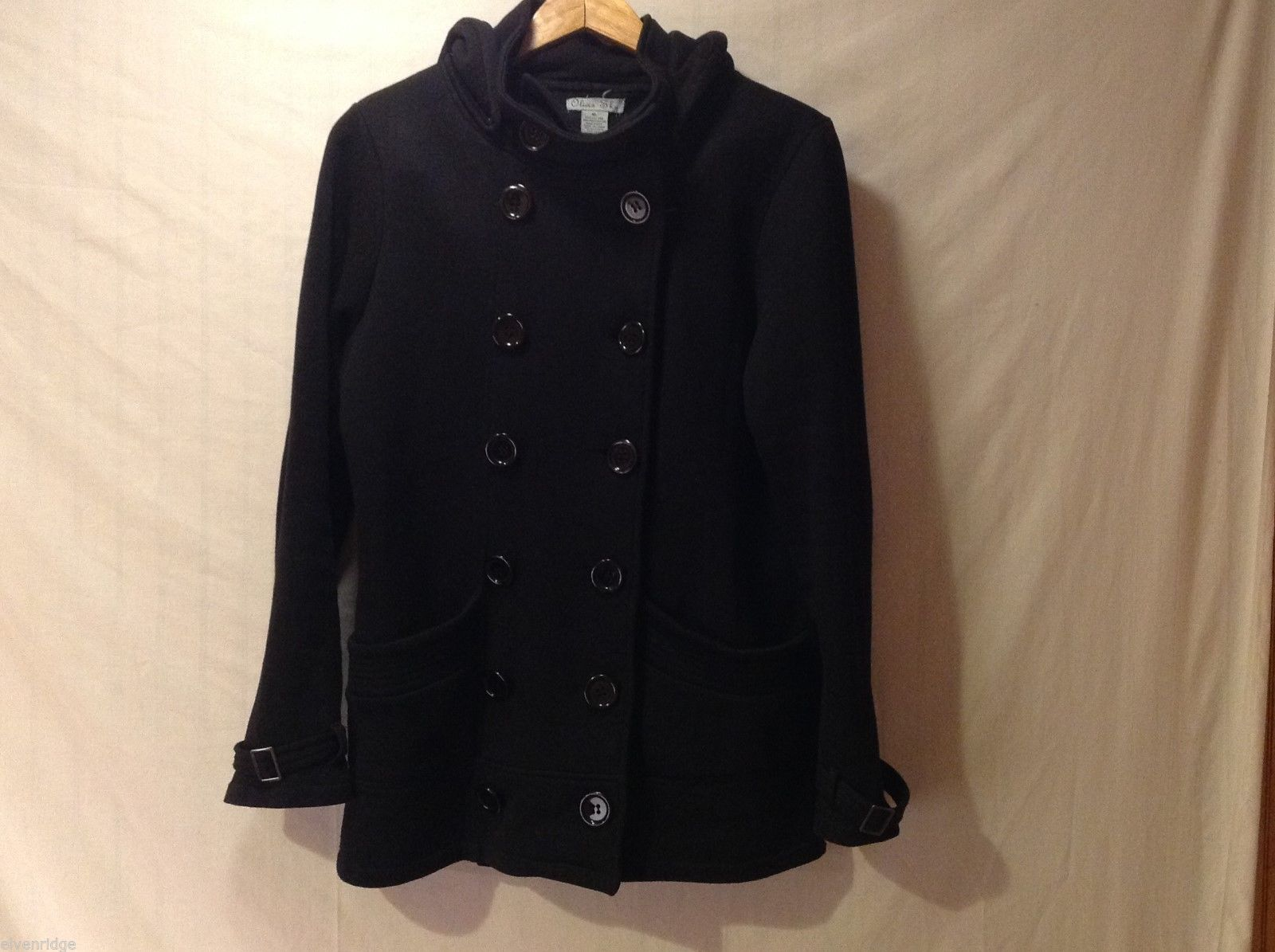 Olivia Sky Womens Black Hooded Jacket, Size XL