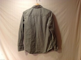 Mens Empyre Olive Greet Collared Shirt, Size Medium image 2