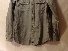 Mens Empyre Olive Greet Collared Shirt, Size Medium image 4