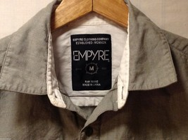 Mens Empyre Olive Greet Collared Shirt, Size Medium image 6