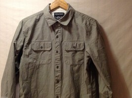 Mens Empyre Olive Greet Collared Shirt, Size Medium image 3