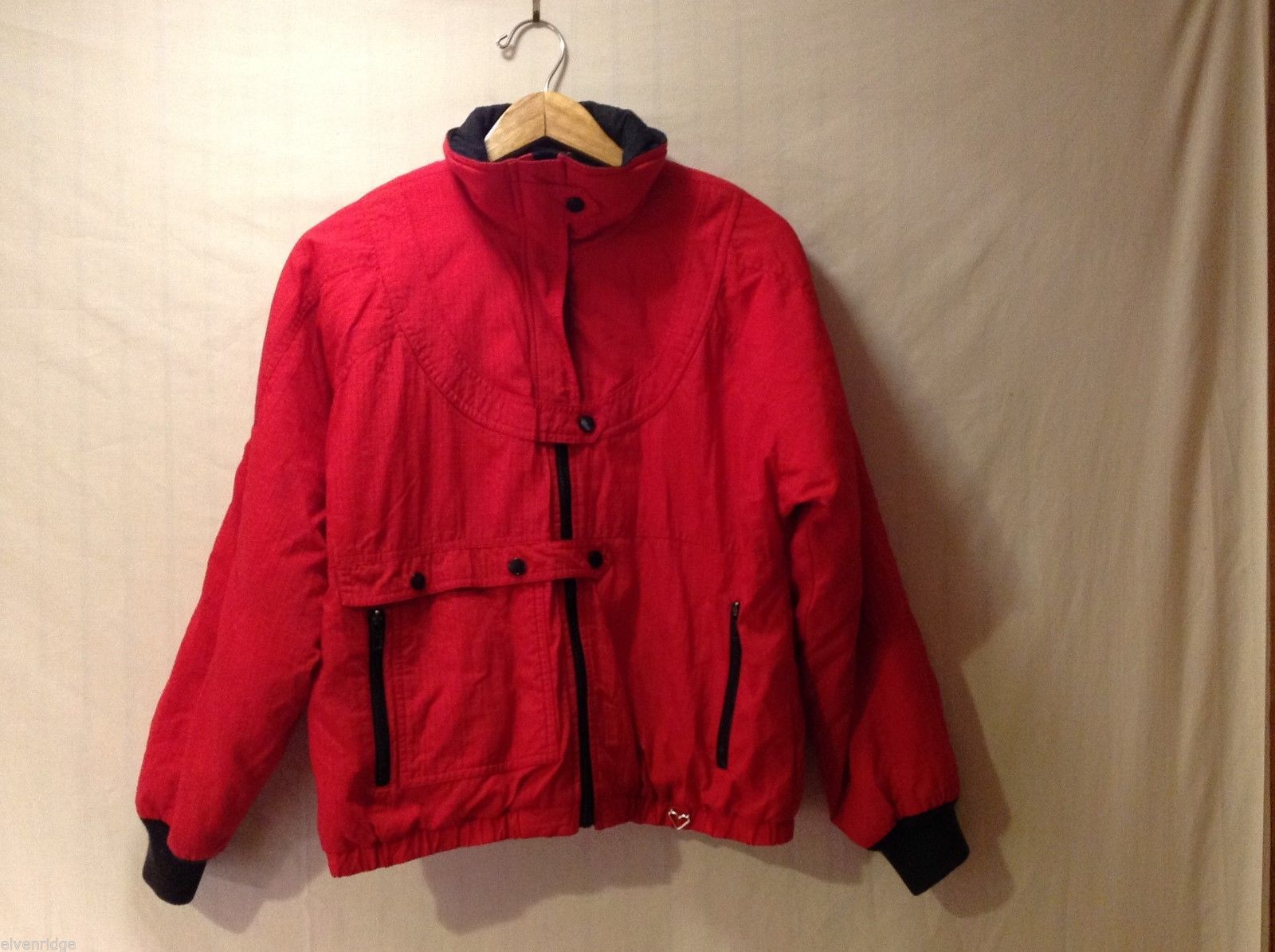 Womens Obermeyer Thinsulate Red Winter Jacket, Size 10