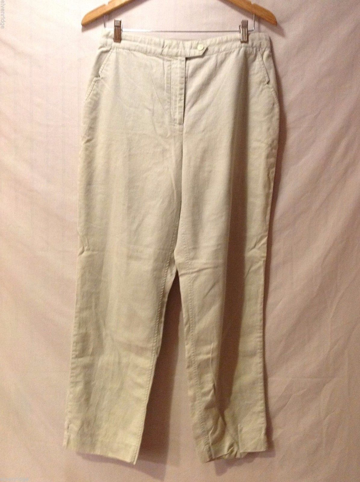Womens Wrinkle Free Khaki Dress Pants, Size 10