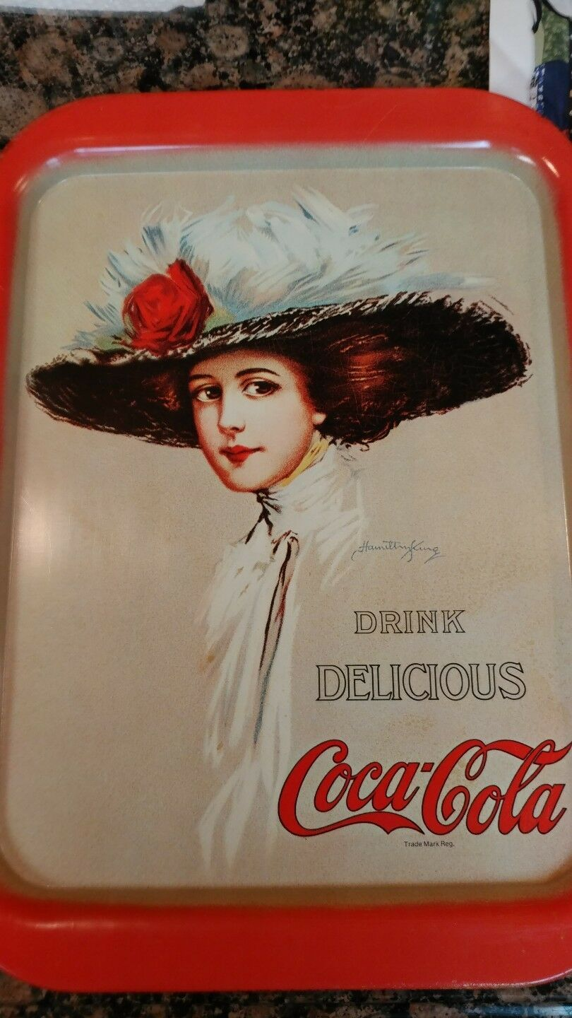 Primary image for Coca Cola Serving Tray with Victorian Lady & Drink Delicious Coca-Cola