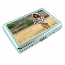 Vintage Farm Girl D18 Silver Cigarette Case / Metal Wallet Card Money Ho... - $8.86