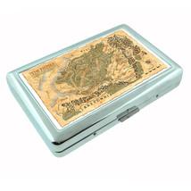 Vintage World Maps D19 Silver Cigarette Case / Metal Wallet Card Money Holder - $8.86