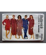 Butterick Misses' Men's Pajamas Nightshirt Top Shorts Pants Pattern L-XL - $8.95