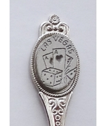Collector Souvenir Spoon USA Nevada Las Vegas Dice Playing Cards Emblem - $2.99