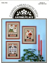 Noel Trio Astor Place Counted Cross Stitch Chart - $3.50
