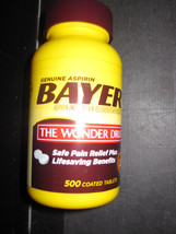 Bayer Aspirin Pain Reliever 500 coated tablets 325mg - $17.49