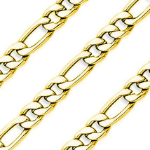 """8""""-24"""" Men's 14k Y Plated Stainless Steel 10mm Silver Figaro Link Chain Necklace - $18.79+"""