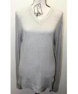 Diesel Tricot & Co Women Sweater Gray V-Neck XXL 100% Cotton Layering - $22.30