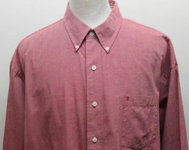Izod Men Long Sleeve Shirt Red 100% Cotton Long Sleeve Shirt 2XL - $19.57
