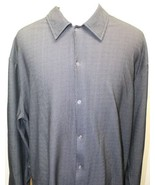 CK Calvin Klein Jeans Black Men Long Sleeve Shirt XXL  Snap Buttons - $22.30