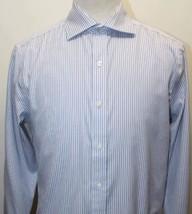Michael Kors Men Long Sleeve Shirt Stripe Blue 100% Cotton 15 1/2 32/33 - €28,88 EUR