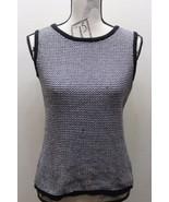 Calvin Klein Women Sleeveless Knitted  Sweater Black White Chevron Mediu... - $37.04