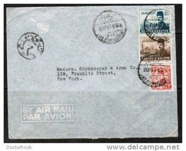 "EGYPT 1953 COVER from ""Alexandria, Egypt TO New York, USA""  (OS-6) - $4.90"