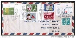 SWITZERLAND Scott # 422-7 On Commercial Cover From ZURICH to NEW YORK (O... - $3.71