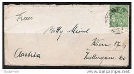 """MALTA MINIATURE COVER 2 1/2"""" x 5"""" from Malta to Vienna Dec 20 1933  (Cov... - $9.85"""