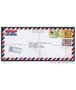 SINGAPORE 1966 REGISTERED AIRMAIL COMMERCIAL COVER to N.Y. USA (OS-11) - $7.87