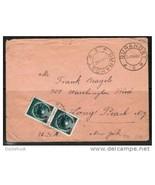 """ROMANIA Scott #836 Pair on 1952 COVER  """"Gurahont to Long Beach NY""""  (Cov... - $14.80"""