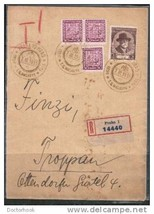 CZECHOSLOVAKIA #205 on Prague 1935 Registered Cover  (OS-2) - $11.83