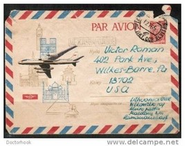 RUSSIA ILLUSTRATED 1965 Airmail Cover to Wilkes-Barre PA,U.S.A.  (Cover-48) - $1.93