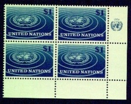 UNITED NATIONS---N.Y. Scott # 150 VF NH imprint blk 4 (6359959) - $2.97