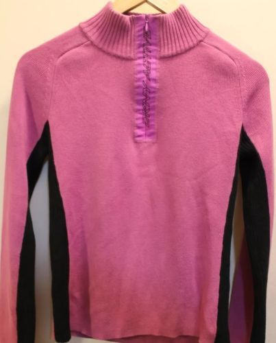 Primary image for DKNY Active Violet Long Sleeve Sweater  Sports Women Pink 100% Cotton Large