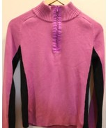 DKNY Active Violet Long Sleeve Sweater  Sports Women Pink 100% Cotton Large - $37.04