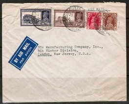 INDIA Scott # 151,3,8 & 159 on COMMERCIAL AIR COVER to USA (27/AUG/39) (... - $5.89