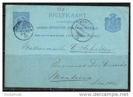 NETHERLANDS 1896 Postcard From Amsterdam to Switzerland (Cover-20) - $4.90