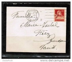 SWITZERLAND Switzerland 1929 Mourning Cover (Cover-23) - $9.85