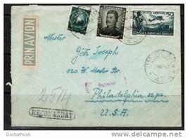 "ROMANIA 1950 REGISTERED AIR COVER TO ""Philadelphia, USA"" (27 MAR 50) (Co... - $7.87"