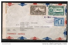 VENEZUELA 1942 COMMERCIAL AIRMAIL CENSOR COVER To USA (6 MAR 1942) (Cove... - $5.89
